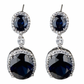 Aria's Fancy CZ Drop Earrings - Sapphire