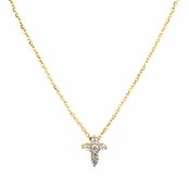 Ariana's Petite Goldtone CZ Cross Necklace