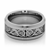 Asher's Celtic Tungsten Ring - 2.5MM