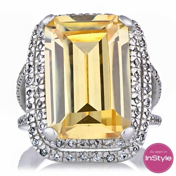 Ashlie's Canary CZ Cocktail Ring