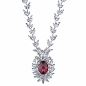 Asteria's Red CZ Fancy Necklace