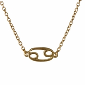 Athena's Goldtone Zodiac Charm Necklace - Cancer