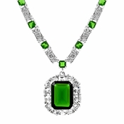 Aubree's Green CZ Estate Necklace