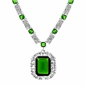 Aubree's CZ Emerald Estate Necklace