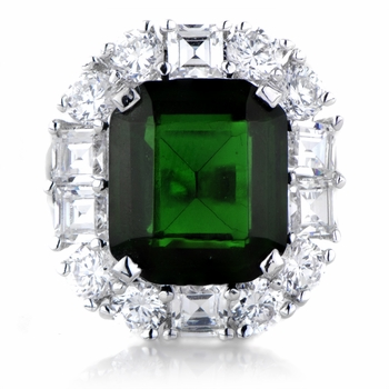 Aubree's CZ Emerald Estate Ring