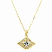 Ayasha's Gold Tone Evil Eye Necklace