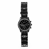 Bailee's Rhinestone Boyfriend Watch - Black