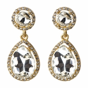 Bailey's Goldtone Rhinestone Peardrop Clip-on Earrings