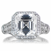 Barbara's Estate Style Asscher Cut Engagement Ring