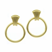 Behina's Goldtone Circle Earrings