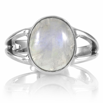Belinda's Oval Cut Simulated Moonstone Ring