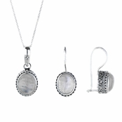 Belinda's Moonstone Necklace & Earring Set