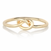 Berry's Gold Tone Simple Love Knot Ring