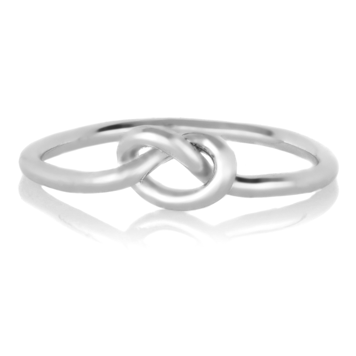 berry s silvertone simple knot ring