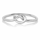 Berry's Silver Tone Simple Love Knot Ring