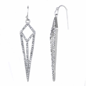 Berta's Silvertone Rhinestone Dagger Earrings