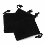 Black Velour Small Gift Pouch Set of 3 - 2 Inches