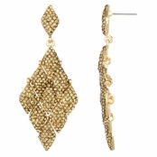 Blanka's Fancy Rhinestone Gold Tone Chandelier Earrings
