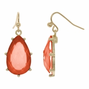 Blossom's Pear Drop Dangle Earrings - Orange