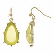 Blossom's Pear Drop Dangle Earrings - Yellow