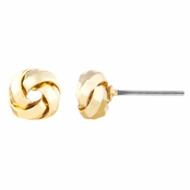 Bopha's Petite Gold Tone Love Knot Stud Earrings