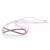 Breast Cancer Awareness Adjustable Cord Bracelet