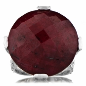 Briar's Ruby Corundum Cocktail Ring - Silver
