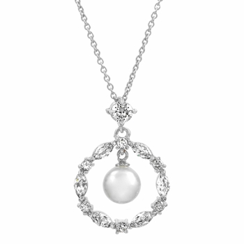 Riya's Circle Imitation Pearl Necklace - Final Sale