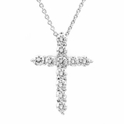 Bridal Necklace: Aurelia's Petite CZ Cross Necklace