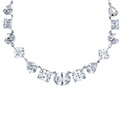 Bridal Necklace: Luciana's Multi-Cut CZ Necklace