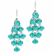 Bridesmaid Jewelery: Tawny's Bead Chandeliers - Blue - Final Sale