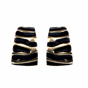 Bridget's Gold and Black Clip-on Earrings