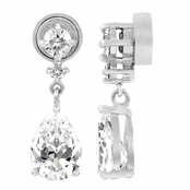 Brie's CZ 1.5ct Pear Drop Non Pierced Magnetic Earrings
