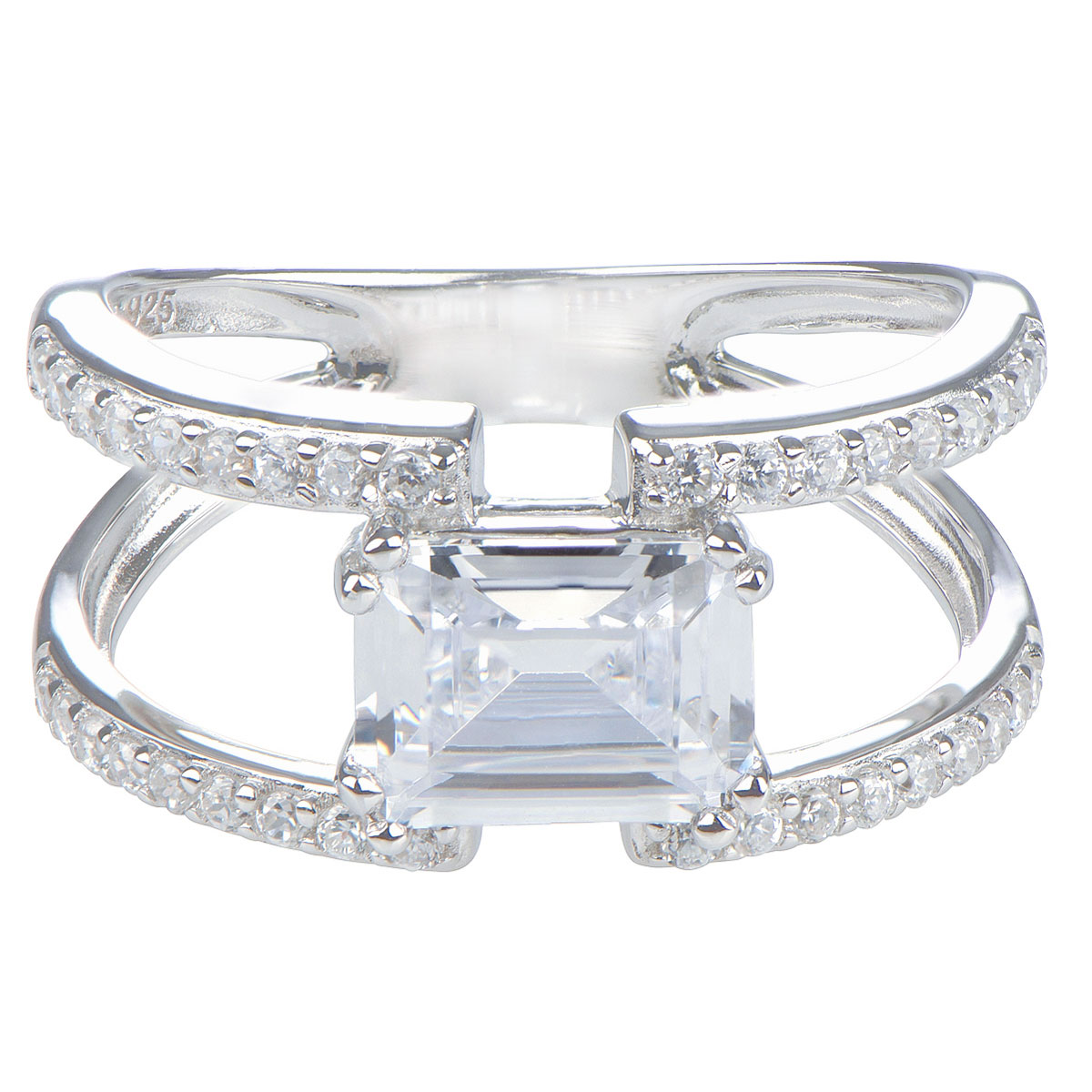 Brie s Double Row Emerald Cut Engagement Ring