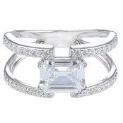 Brie's Double Row Emerald Cut Engagement Ring