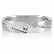 Brigham's Stainless Steel Engravable Wedding Ring