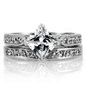 Bronwyn's 2 CT CZ Wedding Ring Set