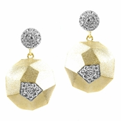 Cai's Goldtone Geometric Earrings - Round