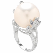 Calliope's Faux Pearl Cocktail Ring
