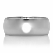 Cameron's Plain Engravable Tungsten Ring - 8mm