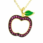 Candy's CZ Apple Necklace