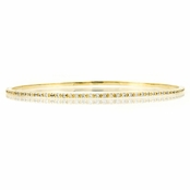 "Caprice's CZ Bangle Bracelet - 8"" Goldtone"
