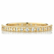 Caprice's Goldtone Eternity Ring Band