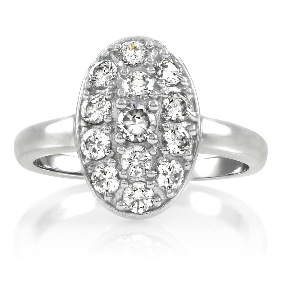 Carleen s Vintage Oval Cubic Zirconia Pave Engagement Ring
