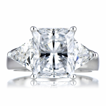 Carlotta's Fake Engagement Ring: Emerald Radiant Cut CZ