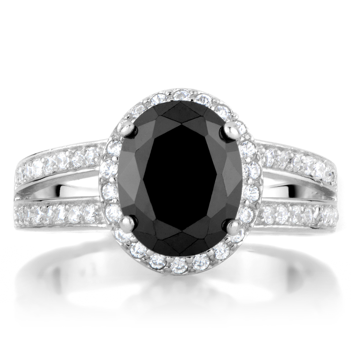 Carly s Black 3 Carat Oval CZ Engagement Ring