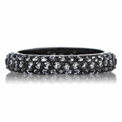 Carnaby's CZ Stackable Gunmetal Eternity Ring
