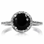 Carrie's Faux Black Diamond Ring  - Comparable To Sex & the City 2
