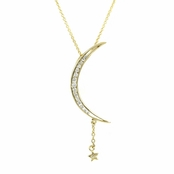 Carrie's Moon & Star Necklace - Gold - Comparable To Sex and the City 2