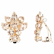 Catriona's Gold Flower Clip-on Earrings - Champagne
